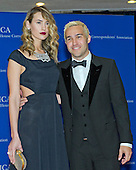 Pete Wentz, right, and Meagan Camper, left, arrives for the 2015 White House Correspondents Association Annual Dinner at the Washington Hilton Hotel on Saturday, April 25, 2015.<br /> Credit: Ron Sachs / CNP