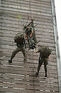 Special Force, April 1982. Special Force parachute training from the high tower in Fort Bragg, NC.
