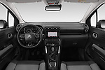 Stock photo of straight dashboard view of a 2018 Citroen C3 Aircross Shine 5 Door SUV