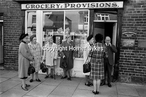 "Dunting the Freeholder. Freeholders outside the ""Freeholders of Newbiggin-by-the-Sea, Lords of the Manor's office. Northumberland. 1974"