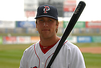 Lars Anderson, first baseman for the Pawtucket Red Sox, poses for a photo during the teams media day on April 5, 2011 at McCoy Stadium in Pawtucket, Rhode Island.  Photo By Ken Babbitt/Four Seam Images