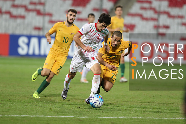 Australia vs Tajikistan during the 2016 AFC U-19 Championship Group D match at Bahrain National Stadium on 21 October 2016, in Riffa, Bahrain. Photo by Jaffar Hasan / Lagardere Sports