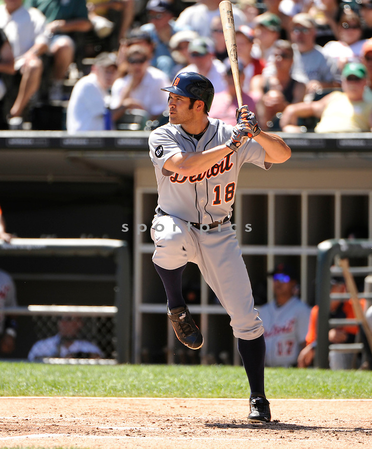 JOHNNY DAMON, of the Detroit Tigers in action during the Tigers game against the Chicago White Sox  at US Cellular Field in Chicago, IL on August 15, 2010.  The Tigers won the game 13-8...