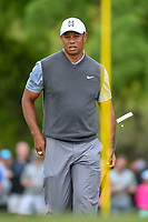 Tiger Woods (USA) looks over his putt on 1 during day 3 of the WGC Dell Match Play, at the Austin Country Club, Austin, Texas, USA. 3/29/2019.<br /> Picture: Golffile | Ken Murray<br /> <br /> <br /> All photo usage must carry mandatory copyright credit (© Golffile | Ken Murray)