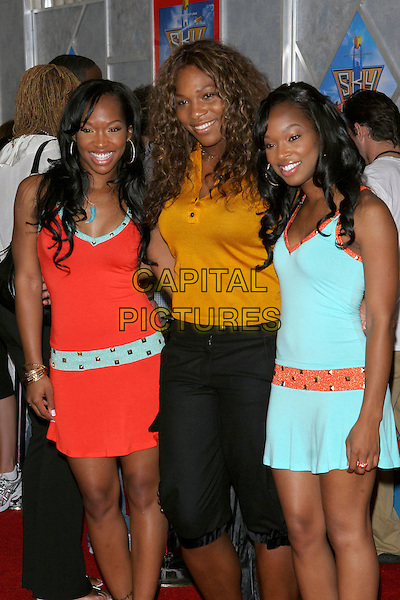 "24 July 2005 - Hollywood, CA - Malika and Khadijah with Serena Williams. World premiere of ""Sky High"" held at The El Capitan Theatre..Photo credit: Jacqui Wong/AdMedia"