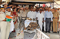 The funeral of Joint Commisioner of Police and head of Mumbais Anti Terror Squad (ATS) Mr Hemant Karkare. He was killed after being shot three times in the chest during the Mumbai terror attacks. 29th of November 2008, Mumbai, India.