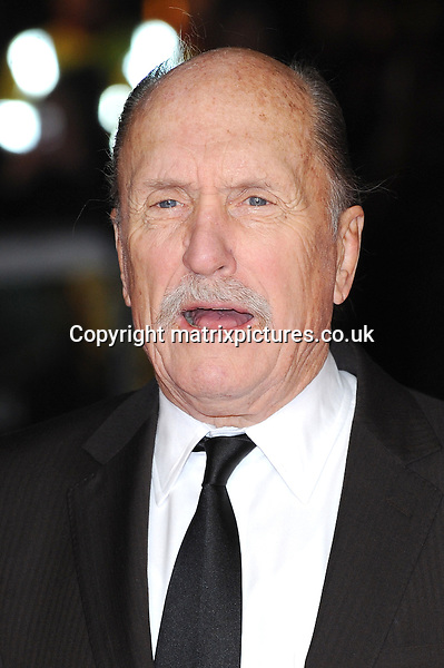 NON EXCLUSIVE PICTURE: PAUL TREADWAY / MATRIXPICTURES.CO.UK.PLEASE CREDIT ALL USES..WORLD RIGHTS..American actor Robert Duvall attending the world premiere of Jack Reacher, held at the Odeon Leicester Square in central London...DECEMBER 10th 2012..REF: PTY 125852