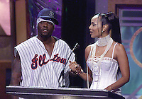 Treach and Lisaraye on stage at The Source Hip-Hop Music Awards 2001 at the Jackie Gleason Theater in Miami Beach, Florida.  8/20/01  Photo by Scott Gries/ImageDirect