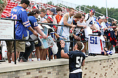 July 26th 2008:  Fan favorite Linebacker Paul Posluszny (51) of the Buffalo Bills signs autographs after the second day of training camp at St. John Fisher College in Rochester, NY.  Photo Copyright Mike Janes/Cal Sport Media