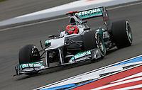 HOCKENHEIM, ALEMANHA, 20 JULHO 2012 - FORMULA 1 - GP DA ALEMANHA -   O piloto alemao Michael Schumacher da equipe Mercedes GP durante o primeiro dia de treinos livres no circuito de Hockenheim nesta sexta-feira, 20. Domingo acontece a 10 etapa da F1 no GP da Alemanha. (FOTO: PIXATHLON / BRAZIL PHOTO PRESS).