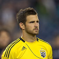 Columbus Crew midfielder Josh Gardner (31). In a Major League Soccer (MLS) match, the Columbus Crew defeated the New England Revolution, 3-0, at Gillette Stadium on October 15, 2011.