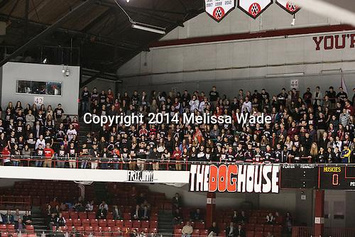 Northeastern Dog House - The visiting University of Vermont Catamounts defeated the Northeastern University Huskies 6-2 on Saturday, October 11, 2014, at Matthews Arena in Boston, Massachusetts.