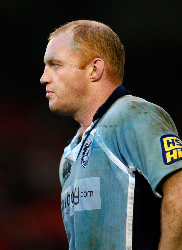 Photo: Richard Lane/Richard Lane Photography..Leicester Tigers v Cardiff Blues. EDF Energy Cup. 03/11/2007. .Blues' Martyn Williams.