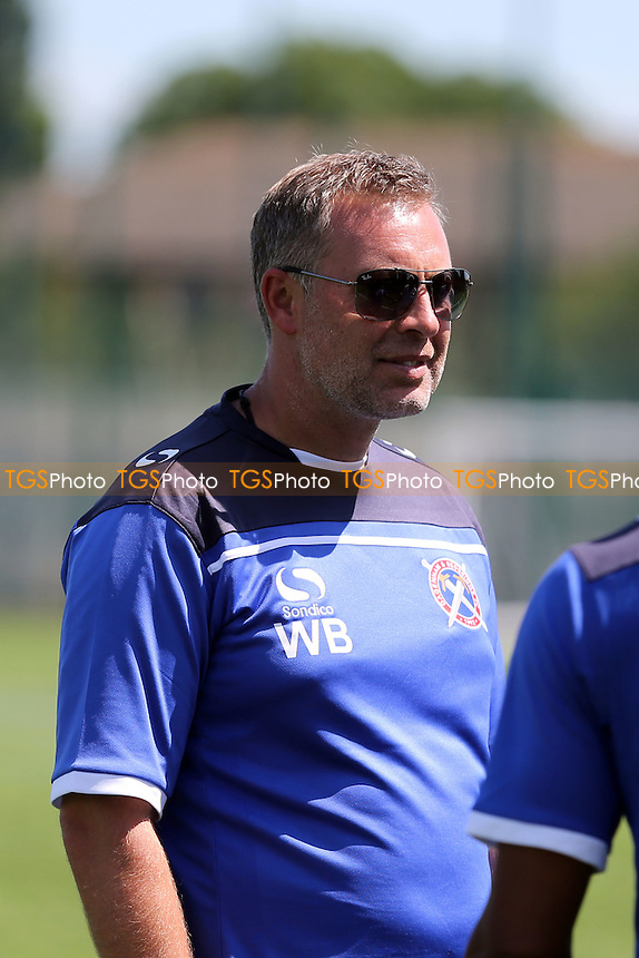 Daggers first team manager Wayne Burnet - Barking Abbey vs Dagenham & Redbridge Academy - Pre Season Friendly football at the Barking Abbey School - 04/07/15 - MANDATORY CREDIT: Dave Simpson/TGSPHOTO - Self billing applies where appropriate - 0845 094 6026 - contact@tgsphoto.co.uk - NO UNPAID USE