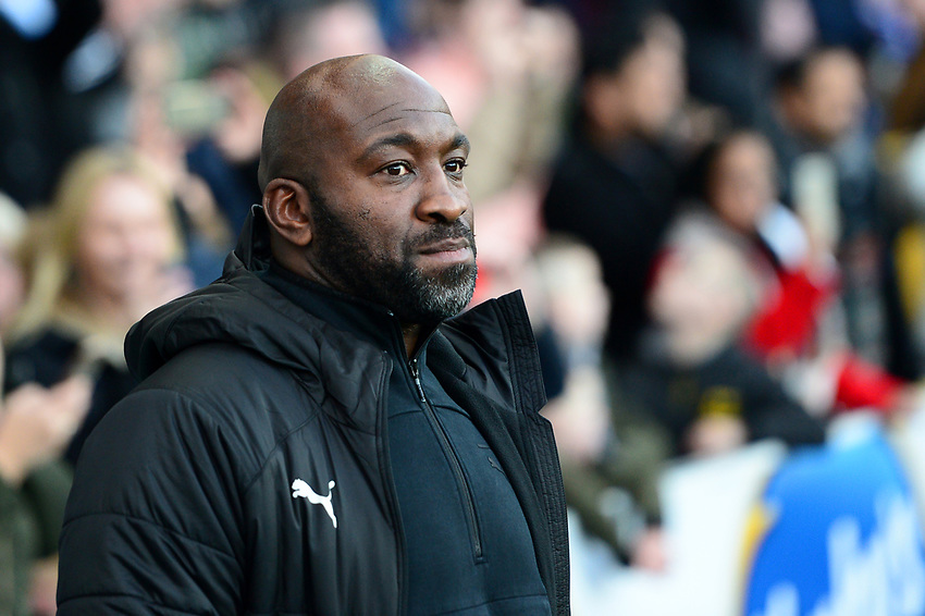 West Bromwich Albion manager Darren Moore  looks on<br /> <br /> Photographer Richard Martin-Roberts/CameraSport<br /> <br /> The EFL Sky Bet Championship - Blackburn Rovers v West Bromwich Albion - Tuesday 1st January 2019 - Ewood Park - Blackburn<br /> <br /> World Copyright © 2019 CameraSport. All rights reserved. 43 Linden Ave. Countesthorpe. Leicester. England. LE8 5PG - Tel: +44 (0) 116 277 4147 - admin@camerasport.com - www.camerasport.com