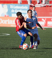 Luis Gil gets stepped on. The Under-17 US Men's National Team defeated Cuba 5-0 at the 2009 CONCACAF Under-17 Championship April 21, 2009 in Tijuana, Mexico.