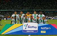 MEDELLÍN - COLOMBIA, 15-02-2020:Formación del Atlético Nacional ante el Deportivo Cali.Acción de juego entre los equipos Atletico Naconal y Deportivo Cali por la fecha 5 de la Liga BetPlay DIMAYOR I 2020 entre Atlético Nacional y Deportivo Cali jugado en el estadio Atanasio Girardot de la ciudad de Medellín. / Team of Atletico Nacional  agaisnt of Deportivo Cali. Action game between Atletico Naconal and Deportivo Cali during match for the date 5 as part of BetPlay DIMAYOR League I 2020 between Atletico Nacional and Deportivo Cali played at Atanasio Girardot stadium in Medellín city.Photo: VizzorImage / Donaldo Zuluaga / Contribuidor