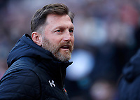 29th February 2020; London Stadium, London, England; English Premier League Football, West Ham United versus Southampton; Southampton Manager Ralph Hasenhuttl looks on
