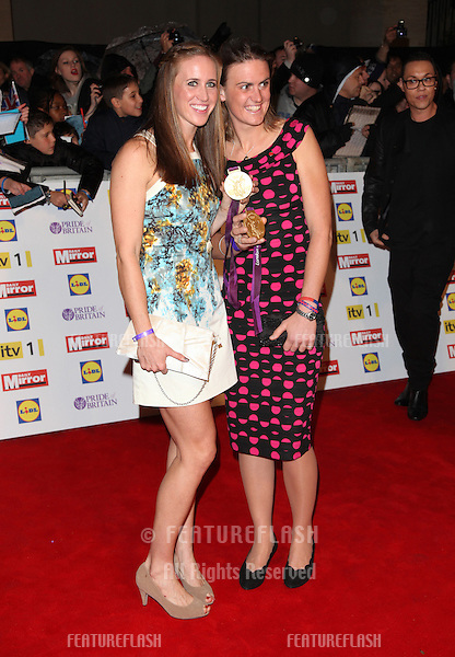 Heather Stanning and Helen Glover arriving for the 2012 Pride of Britain Awards, at the Grosvenor House Hotel, London. 29/10/2012 Picture by: Alexandra Glen / Featureflash