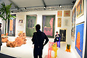 MIAMI BEACH, FL - DECEMBER 06: Art Basel patrons look at works at Salon 94 Design during Art Basel Design Miami on December 06, 2019 in Miami Beach, Florida. Art Basel represents over 250 art galleries onsite at the Miami Beach Convention Center. It is considered one of the world's largest art festivals and has art events throughout the city.  ( Photo by Johnny Louis / jlnphotography.com )