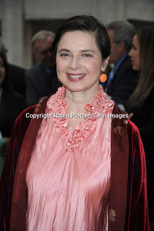 Isabella Rossellini arriving at The American Ballet Theatre's 70th Anniversay Season at their Spring Gala on May 17, 2010 at The Metropolitan Opera House in New York City.