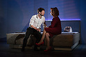 Edinburgh, UK. 01.08.2014.  UNFAITHFUL opens at the Traverse Theatre, as part of Edinburgh Festival Fringe. Picture shows: Owen Whitelaw (Peter) and Cara Kelly (Joan). Photograph © Jane Hobson.