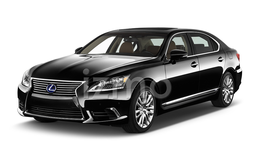 2016 Lexus LS 600H-L-President-Line 4 Door Sedan Angular Front stock photos of front three quarter view