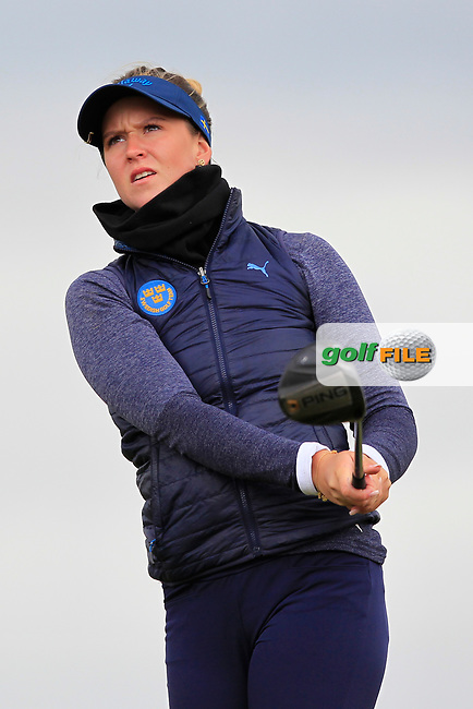 Linn Grant (SWE) on the 8th tee during Round 3 Matchplay of the Women's Amateur Championship at Royal County Down Golf Club in Newcastle Co. Down on Friday 14th June 2019.<br /> Picture:  Thos Caffrey / www.golffile.ie
