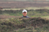 Daniel Im (USA) in a bunker on the 14th fairway during Round 1of the Sky Sports British Masters at Walton Heath Golf Club in Tadworth, Surrey, England on Thursday 11th Oct 2018.<br /> Picture:  Thos Caffrey | Golffile<br /> <br /> All photo usage must carry mandatory copyright credit (© Golffile | Thos Caffrey)