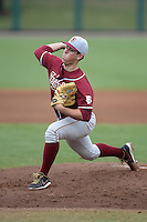 Florida State Seminoles pitcher Kenny Burkhead (36) during a game against the South Florida Bulls on March 5, 2014 at Red McEwen Field in Tampa, Florida.  Florida State defeated South Florida 4-1.  (Mike Janes/Four Seam Images)