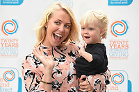 Laura Hamilton and daughter, Tahlia<br /> arrives for the In Kind Direct's 20th Birthday Celebration at The Royal Hospital, Chelsea , London. <br /> <br /> <br /> ©Ash Knotek  D3291  07/08/2017