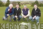 -Brendan Sinnott, John Fitzgerald, Francis Fitzgerald and Pa Donegan Ardfert on the putting green in Killorglin Golf club Saturday morning..