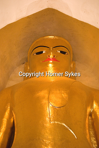 Buddha at Manuha paya,  Bagan Pagan, Burma Myanmar 2006