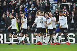 David Nugent of Derby County celebrates scoring with team mates during the championship league match between Derby and Millwall at Pride Park Stadium, Derby. Picture date 23rd December 2017. Picture credit should read: Joe Perch/Sportimage