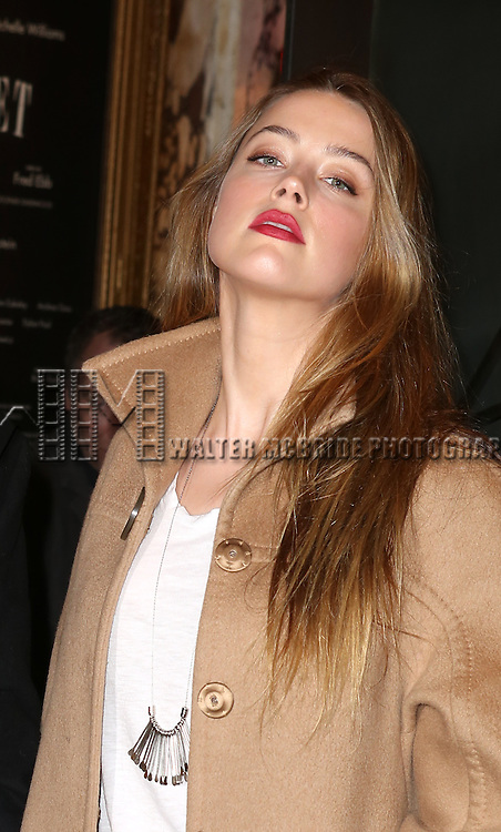 Amber Heard attending the Broadway Opening Night Performance of 'Cabaret' at Studio 54 on April 24, 2014 in New York City.