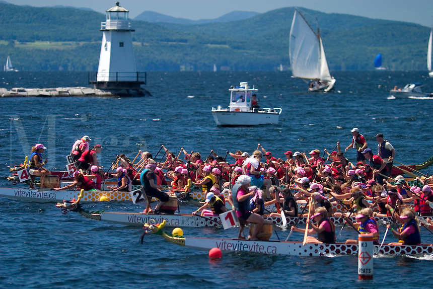 Dragon  Boat Races held in Burlington, VT.