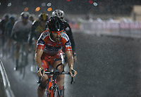 PICTURE BY MARK GREEN/SWPIX.COM ATP  Tour of Abu Dhabi - Yas Island Stage, UAE, 26/02/17<br /> Riders battle through the rain at the Yas Marina stage of the 2017 Tour of Abu Dhabu