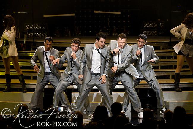 New Kids on the Block perform at Comcast Center in Massachusetts on June 18, 2009
