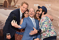 "LOS ANGELES, CA - APRIL 3: (L-R) Cast members Chris Geere, Aya Cash, Creator/EP/Showrunner/Writer/Director Stephen Falk, and cast members Kether Donohue and Desmin Borges attend the FYC Red Carpet event for the series finale of FX's ""You're the Worst"" at Regal Cinemas L.A. Live on April 3, 2019 in Los Angeles, California. (Photo by Frank Micelotta/FX/PictureGroup)"