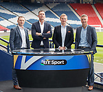 Rory Hamilton, Chris Sutton, Darrell Currie and Stephen Craigan launch BT Sports scottish football season coverage at Hampden