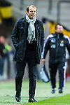 Solna 2013-09-30 Fotboll Allsvenskan AIK - &Ouml;sters IF :  <br /> AIK chefstr&auml;nare coach Andreas Alm ser glad ut<br /> (Foto: Kenta J&ouml;nsson) Nyckelord:  portr&auml;tt portrait glad gl&auml;dje lycka leende ler le