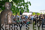 Johnny OLeary looks out at the crowd that gathered for his unveiling in Killarney last Saturday..