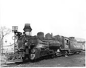 D&amp;RGW #476 K-28 in Durango.<br /> D&amp;RGW  Durango, CO  Taken by Payne, Andy M. - 4/8/1962