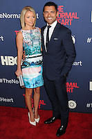 "NEW YORK CITY, NY, USA - MAY 12: Kelly Ripa, Mark Consuelos at the New York Screening Of HBO's ""The Normal Heart"" held at the Ziegfeld Theater on May 12, 2014 in New York City, New York, United States. (Photo by Celebrity Monitor)"