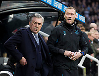 Football - 2019 / 2020 Premier League - Newcastle United vs. Everton Everton manager Carlo Ancelotti with his assistant manager Duncan Ferguson, at St James Park Stadium. COLORSPORT/BRUCE WHITE PUBLICATIONxNOTxINxUK <br /> Everton Vs Newcastle <br /> Foto Imago/Insidefoto <br /> ITALY ONLY
