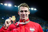 Picture by Alex Whitehead/SWpix.com - 10/04/2018 - Commonwealth Games - Swimming - Optus Aquatics Centre, Gold Coast, Australia - Ben Proud of England wins Gold in the Men's 50m Freestyle final.