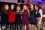 Noelle Mulvihill (Tralee), Marie Collum (Newcastlewest), Mary Ellen Quill (Athea), Carol Connors (Newcastlewest), Sarah Lyons (Newcastlewest) and Sharon Scanlon (Tralee), enjoying Women's Christmas at Ballygarry House Hotel and Spa, Tralee, on Saturday night last.