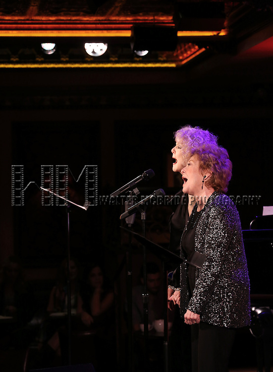 Penny Fuller & Anita Gillette performing 'Sin Twisters' at the 54 Below Press Preview on September 23, 2013 in New York City.