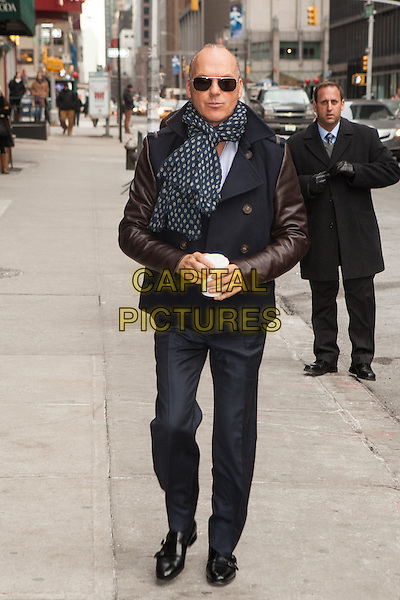 NEW YORK, NY -  MARCH 4: Michael Keaton visits the Late Show With David Letterman on  March 4, 2014 in New York City.<br /> CAP/MPI/COR<br /> &copy;Corredor99/ MediaPunch/Capital Pictures