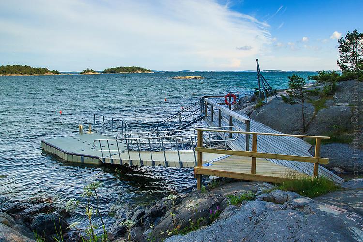 Badbrygga vid Björnö i Stockholms skärgård/Stockholm archipelago Sweden